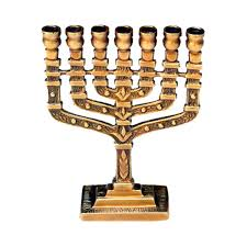 menorah 7 branch giftbay 6029 menorah 7 branch with antique brass finish 3 25 x1 x4 5