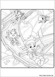 jake neverland pirates coloring pages scully cartoon