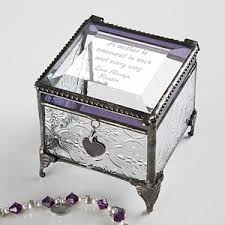 personalized jewelry box personalized vintage glass jewelry box with custom poem