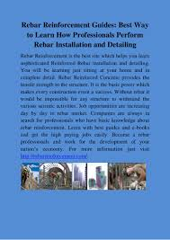 document1rebar reinforcement guides best way to learn how profession u2026