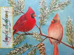 how to paint a cardinal acrylic painting tutorial live full