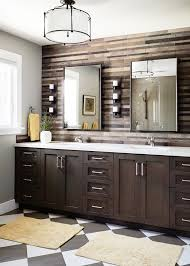 bathroom accent wall ideas mirror backsplash tiles bathroom transitional with accent wall