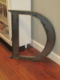 Home Decor Letters Metal by 24 Metal Letter D Serif Font Wall Decor Industrial