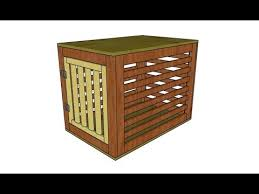 How To Build A End Table Dog Crate by Dog Crate Plans Youtube