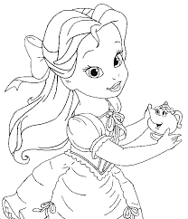 baby disney princess coloring pages cute princess coloring pages