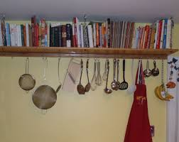 kitchen accessories simple bookshelf kitchen with cookbooks and