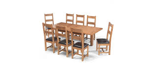 Solid Oak Dining Table And 8 Chairs by Rustic Oak 132 198 Cm Extending Dining Table And 8 Chairs