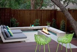 Floating Fire Pit by Grosvener Court Austin Outdoor Design