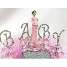 shower pregnant mom baby princess cake topper