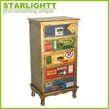 Multi Drawer Wooden Cabinet Vintage Distressed Wood Many Small Drawers Cabinet Tall Cabinet