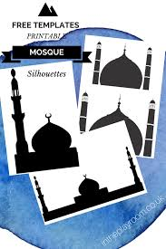 cutting u0026 sticking mosque pictures with free printable templates