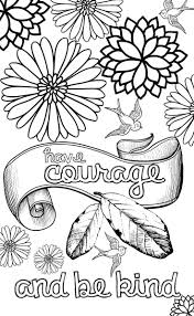 printable page of quotes cinderella inspired grown up colouring pages have courage and be