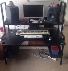 Studio Computer Desk by Ikea Fredde Workstation Designer Music Studio Video Editor