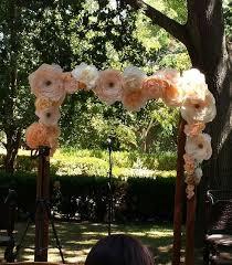wedding arches on a budget 30 budget friendly paper flower wedding ideas weddingomania