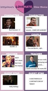 Glee Meme - love hate glee meme on glee meme deviantart