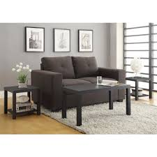 altra furniture coffee table and end table set in black 3 piece