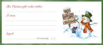 Printable Christmas Gift Vouchers | free christmas gift voucher printable update rossi fox
