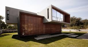 futuristic house with bamboo blinds wall shade combined rectangle