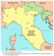 Italy Time Zone Map by Italy