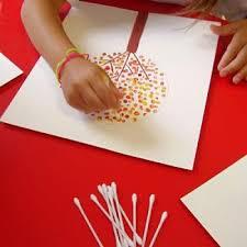 art and craft for kids fall q tip art thanksgiving kids craft post not written in
