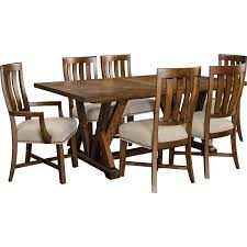 Broyhill Furniture Dining Room Broyhill Furniture Pieceworks Rustic 7 Piece Trestle Table And