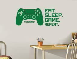 sleep wall decal etsy gifts for boys eat sleep game repeat controllers wall decal long design kids