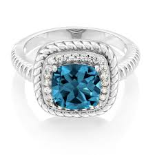 blue london rings images Gem stone king diamond cushion natural london blue topaz 925 jpg