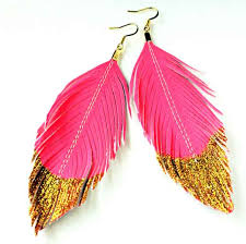 80s feather earrings in feathers faux leather feather earrings inaccessory