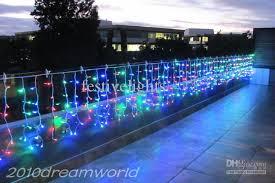 multi colored led christmas lights multi colored led icicle lights 10m x 06 m 320 led icicle curtain