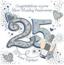 25 year wedding anniversary anniversary cards inspirational 25 year anniversary card 25 year