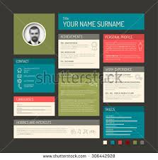 vector minimalist cv resume template dashboard stock vector