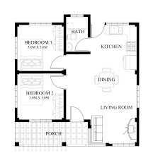 floor plan design bold and modern small house plans and designs in the philippines 5