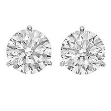 diamond stud earings brilliant diamond stud earrings 6 04 ct tw for sale at 1stdibs