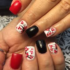 easy valentines day red and white nail art design youtube mix