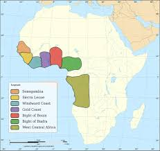 Map Of Sierra Leone Slavetrade Between Africa And The Caribbean From Start To End