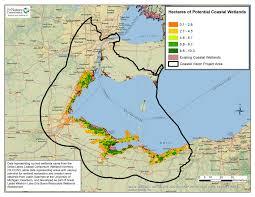 Sandusky Ohio Map by Coastal Wetland Restoration
