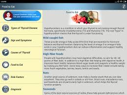 thyroid help u0026 foods diet tips for high u0026 low tft android apps