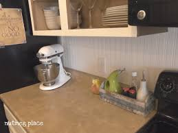 Kitchen Backsplash Wallpaper Beadboard Backsplash Using Wallpaper Mom 4 Real