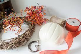wreath supplies craftaholics anonymous diy fall wreath with monogram pumpkin