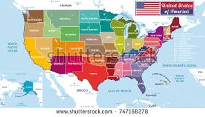 united states of america map with alaska and hawaii united states america map stock vector 240772159