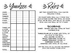 yardzee game rules giant lawn dice jpg 2 200 1 700 pixels craft