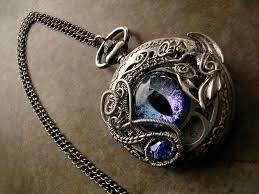 ladies pocket watch necklace images Succubus color shifting eye pocket watch necklace by ladypirotessa jpg