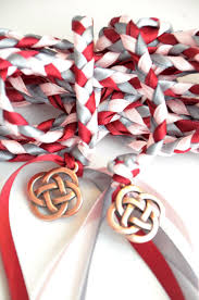 fasting cord pink wine celtic knot wedding fasting binding cord