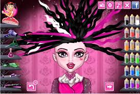design hair game monster high doll draculaura vire real hair cut and makeover fun