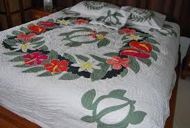 honu turtle lei hawaiian king quilt set