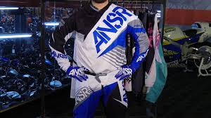 blue motocross gear 2016 answer racing syncron motorcycle gear collection review youtube