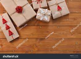 christmas gift boxes craft paper twine stock photo 511343266