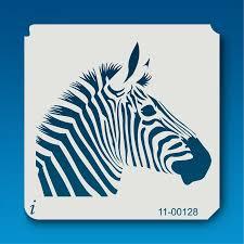 11 00128 zebra head safari animal stencil