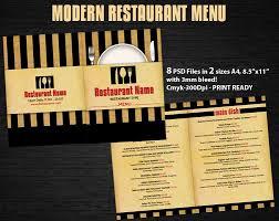 modern restaurant menu psd template u2039 psdbucket com