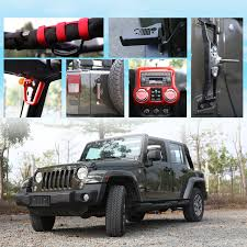 shift knobs for jeep wrangler cartaoo gear shift knobs cover trim for 2012 2017 jeep wrangler jk